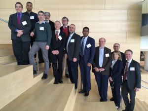 Meeting presenters (left to right): Philip Rosenfeld, MD, PhD; Ilyas Washington, PhD; Peter Charbel Issa, MD, PhD; Elias Traboulsi, MD, MEd; Ulrich Schraermeyer, PhD; Carel Hoyng, PhD; Paul Bernstein, MD, PhD; SriniVas Sadda, MD; Krzysztof Palczewski, PhD; Janet Sparrow, PhD; Artur Cideciyan, PhD; Hendrik Scholl, MD; Patricia Zilliox, PhD (not pictured)